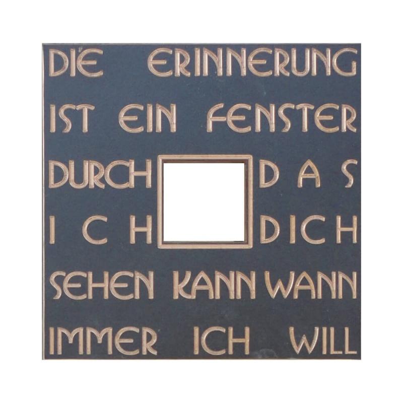 marmor grabmal »ligretto« mit bronze • serafinum.de, Innenarchitektur ideen