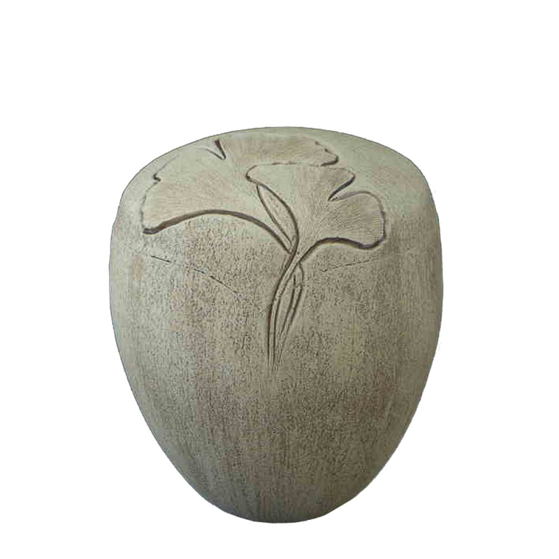 aschenurne keramik ginkgo motiv seranita. Black Bedroom Furniture Sets. Home Design Ideas