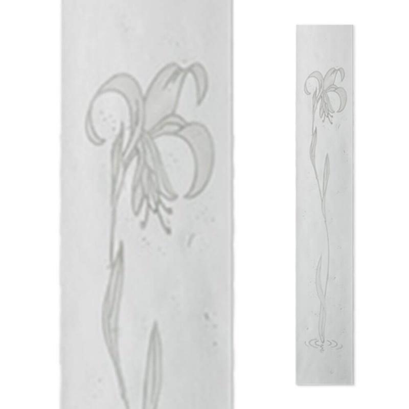 besondere glas deko f r grabsteine mit lilie