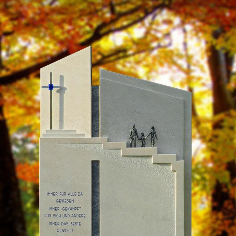 urnengrab grabstein »bianco« aus marmor • serafinum.de, Innenarchitektur ideen