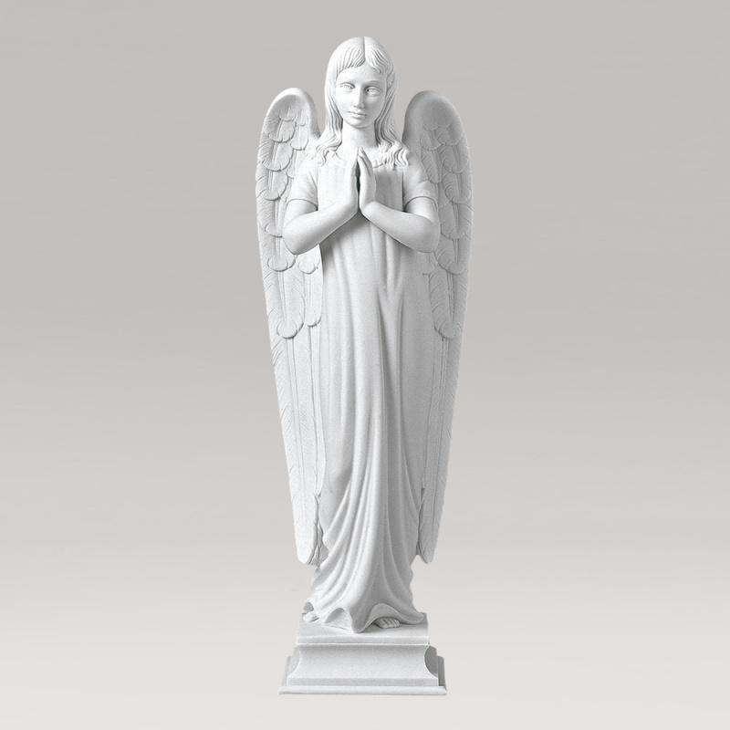 grabengel skulptur marmorguss betender engel. Black Bedroom Furniture Sets. Home Design Ideas