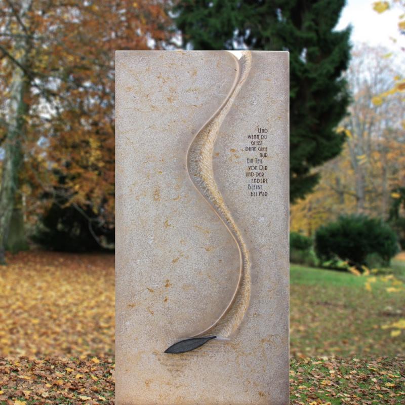 Urnengrabstein aus naturstein - Naturstein post ...
