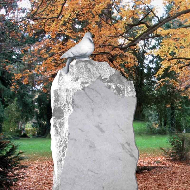 marmor grabstein »slavia« mit taube • serafinum.de, Innenarchitektur ideen