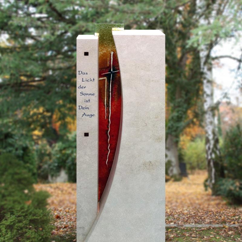 Grabstein susini mit glas for Moderne bilder glas