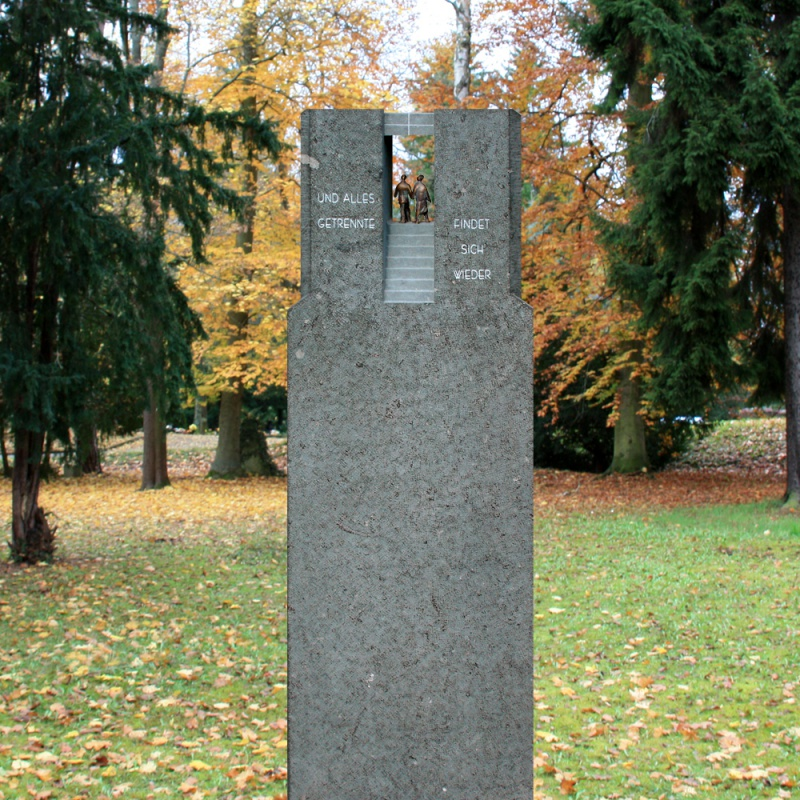 grabstein »finita« aus marmor & bronze • serafinum.de, Innenarchitektur ideen