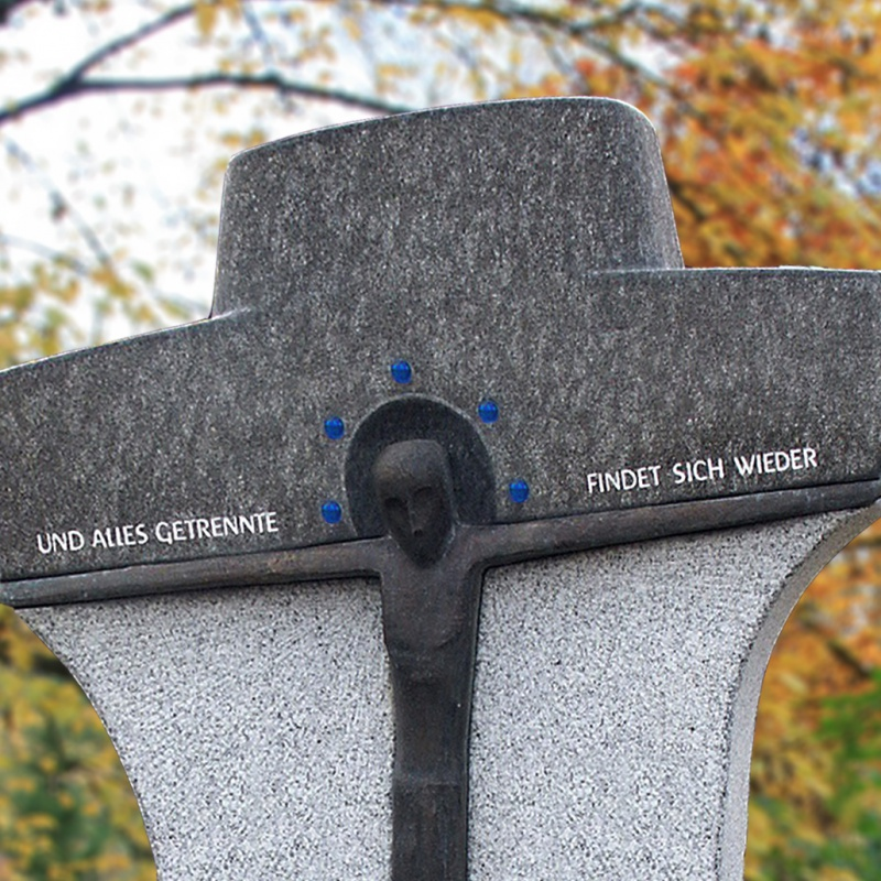 urnengrabstein »solanto« kreuzförmig • serafinum.de, Innenarchitektur ideen