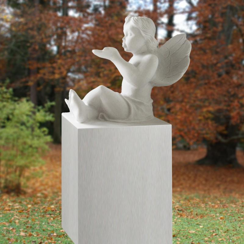 grabstein mit marmor engel • serafinum.de, Innenarchitektur ideen