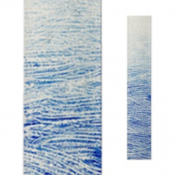 Grabstein Design Glas Element in Blau - Glasstele S-5