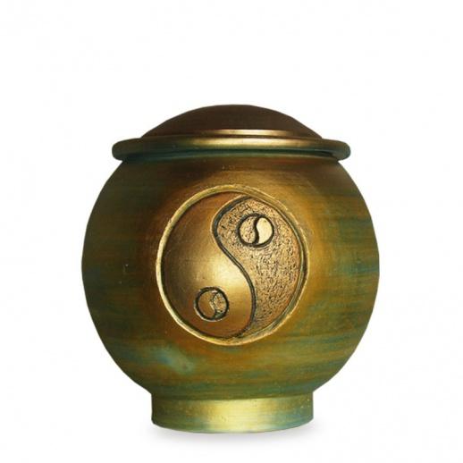 hochwertige urne yin yang herus. Black Bedroom Furniture Sets. Home Design Ideas