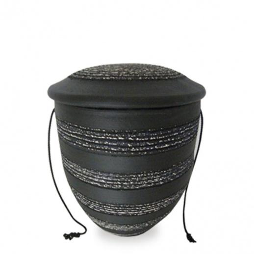 keramikurne schwarz wei keriso. Black Bedroom Furniture Sets. Home Design Ideas