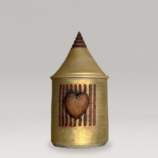 urne in gold mit herz alcea. Black Bedroom Furniture Sets. Home Design Ideas
