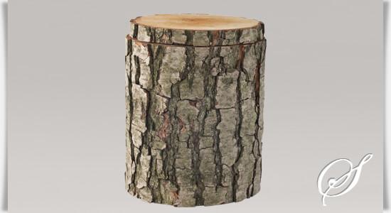 Holz urne alnus mit rinde - Baumstamm kaufen baumarkt ...