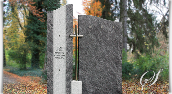 Super Grabmal »Bonifacio« für Doppelgrab | Serafinum.de BJ34