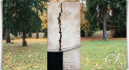Naturstein urnengrabmal divido - Naturstein post ...