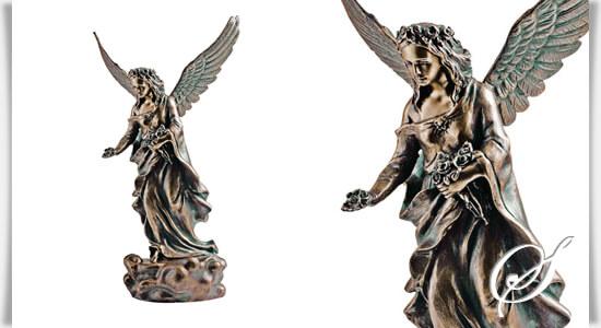 engel grabfigur angeloi chino aus bronze. Black Bedroom Furniture Sets. Home Design Ideas