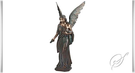 bronze engel skulptur angelo grande. Black Bedroom Furniture Sets. Home Design Ideas