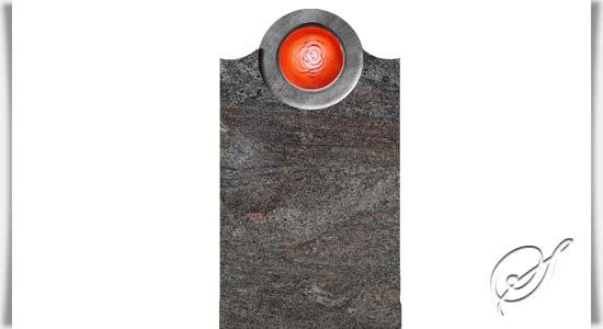 naturstein grabstein querida mit glas. Black Bedroom Furniture Sets. Home Design Ideas