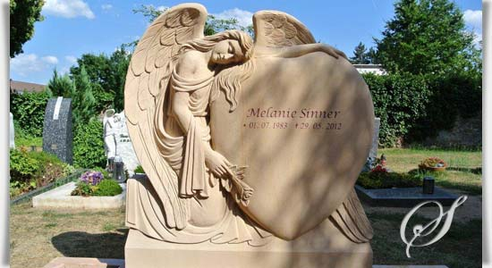 Sandstein Engel Grabstein Friedhof Grabdesign