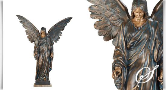 gro e bronze engel statue labael. Black Bedroom Furniture Sets. Home Design Ideas
