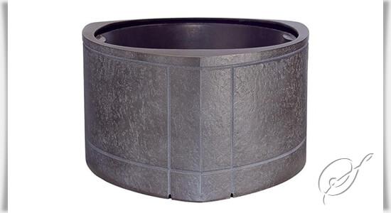Bronze grabschale alemonia modern - Moderne pflanzschalen ...