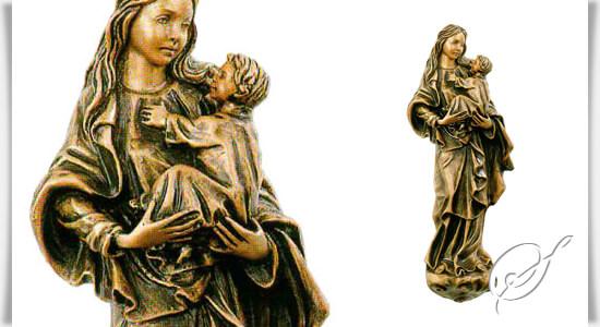 maria mit kind statue maria felicia aus bronze. Black Bedroom Furniture Sets. Home Design Ideas
