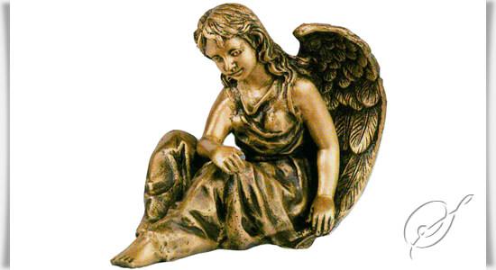 schutzengel figur engel helena aus bronze. Black Bedroom Furniture Sets. Home Design Ideas