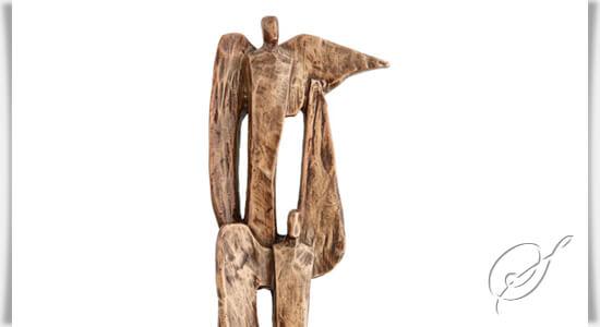 moderne bronze engelfigur 3 engel komposition. Black Bedroom Furniture Sets. Home Design Ideas