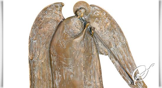 bronze engel angelo trombone mit posaune. Black Bedroom Furniture Sets. Home Design Ideas