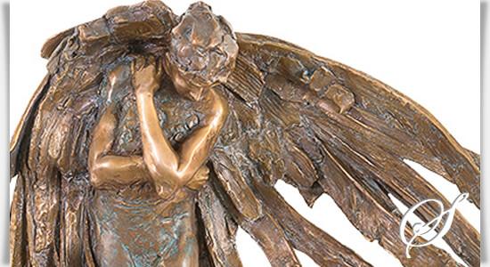 trauernder bronze engel angelo piangere. Black Bedroom Furniture Sets. Home Design Ideas