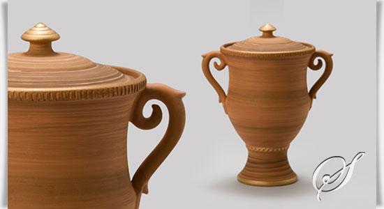 biologisch abbaubare urne aus ton lourdes. Black Bedroom Furniture Sets. Home Design Ideas