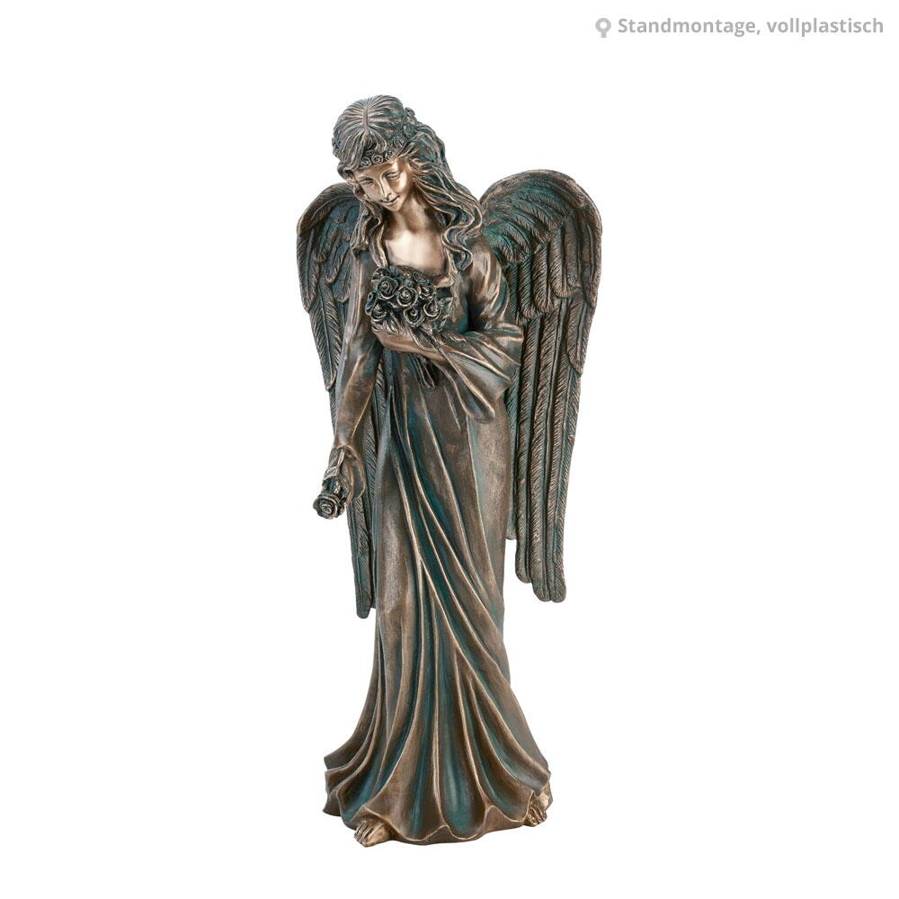 Bronzeskulptur Grabschmuck Grabdekoration Skulptur Figur Muschel   396