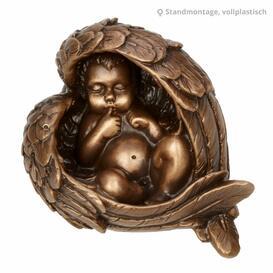 Engelfigur aus Bronze kaufen - Flügel mit Engel