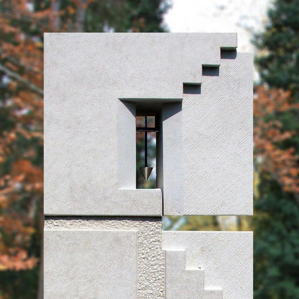 urnengrabstein mit stufen muster. Black Bedroom Furniture Sets. Home Design Ideas