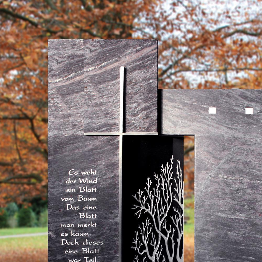 dunkles grabmal begato aus granit. Black Bedroom Furniture Sets. Home Design Ideas