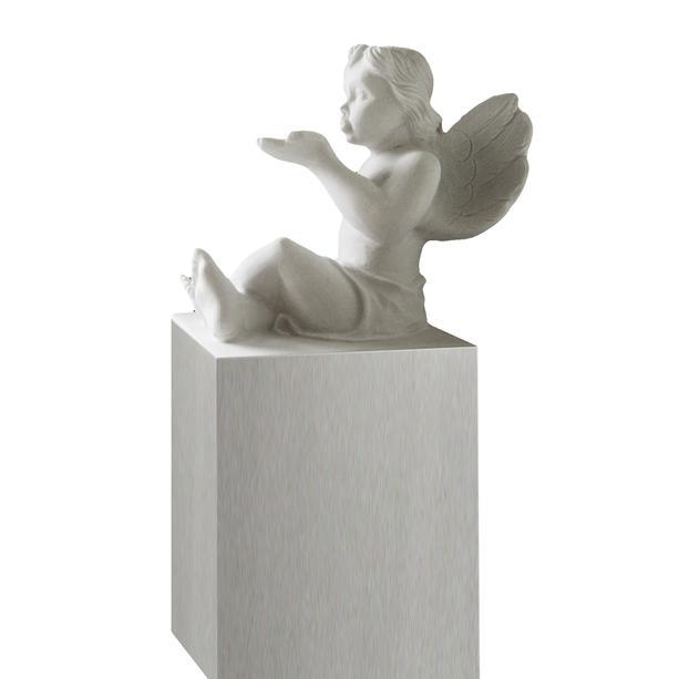 grabstein mit marmor engel. Black Bedroom Furniture Sets. Home Design Ideas