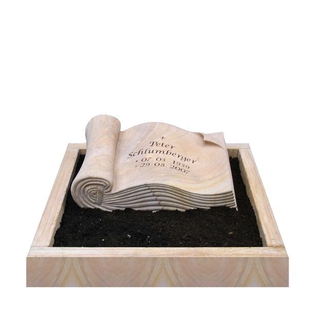 grabstein libro mit buch. Black Bedroom Furniture Sets. Home Design Ideas