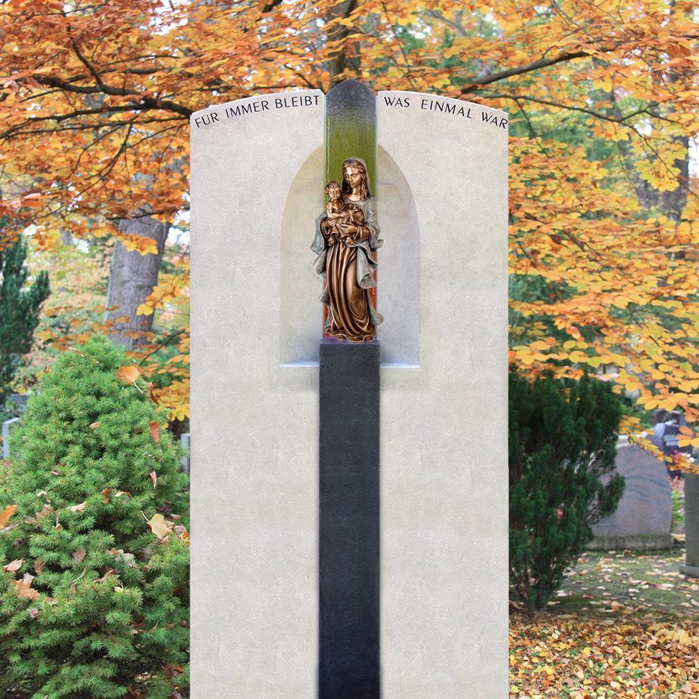 Doppelgrabmal »Mea Domina« mit Skulptur • Serafinum.de