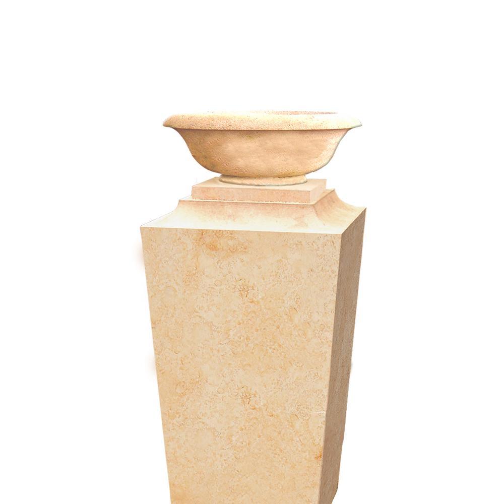 sandstein stele mit schale calvia. Black Bedroom Furniture Sets. Home Design Ideas