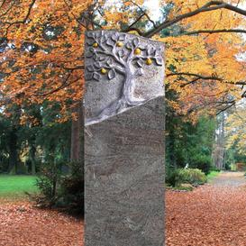 Gedenkstein Naturstein mit Lebensbaum - Miranda