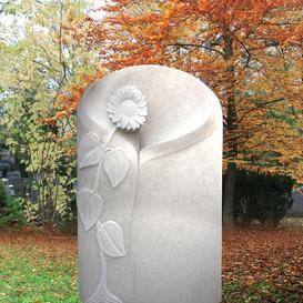 Grabstein für Kind mit Sonnenblume - Florina