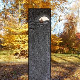Einzelgrab Naturgrabstein exklusiv vom Bildhauer online - Lemaire