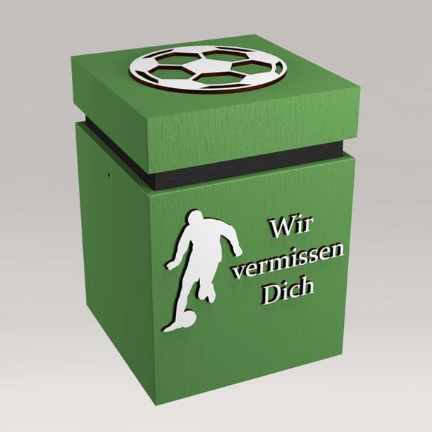 Kreative Überurne Aus Holz Grün Für Fußballfans Handgefertigt   Fußball  Grisey ...