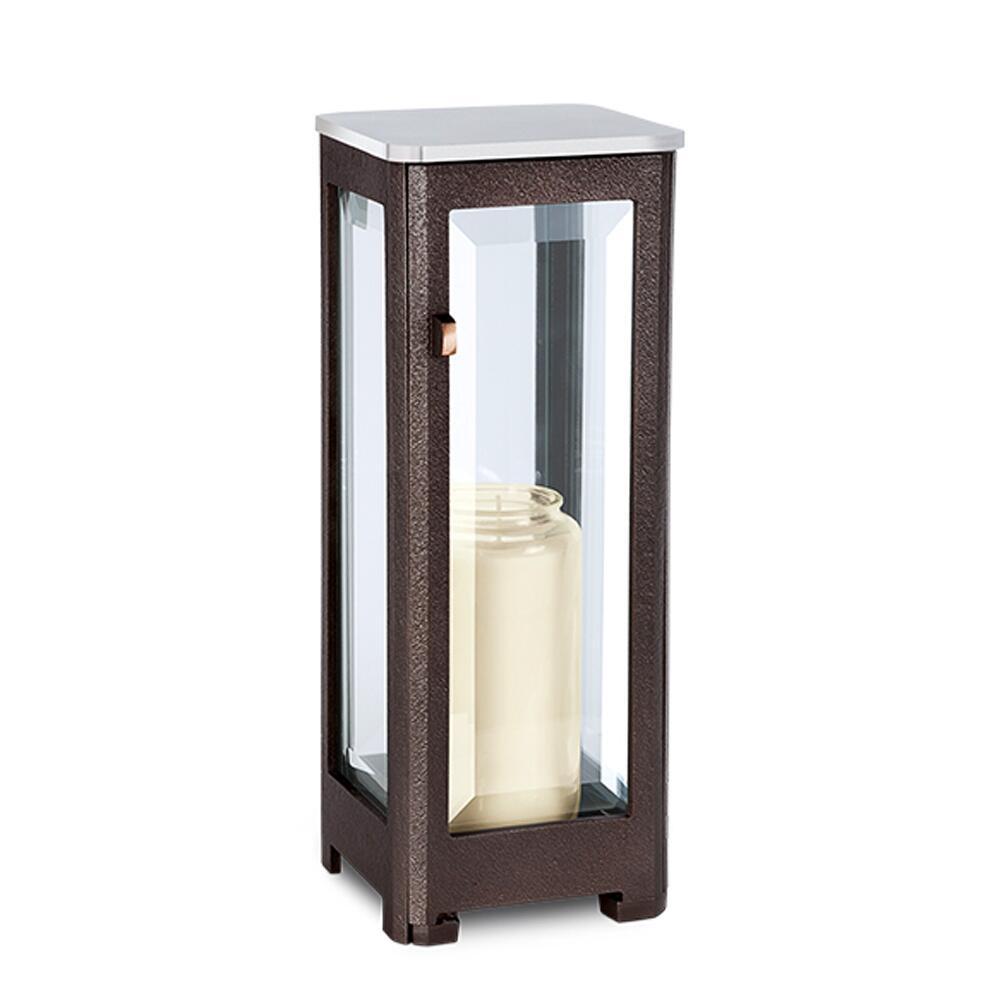 gro e grab lampe cera mit edelstahldeckel. Black Bedroom Furniture Sets. Home Design Ideas