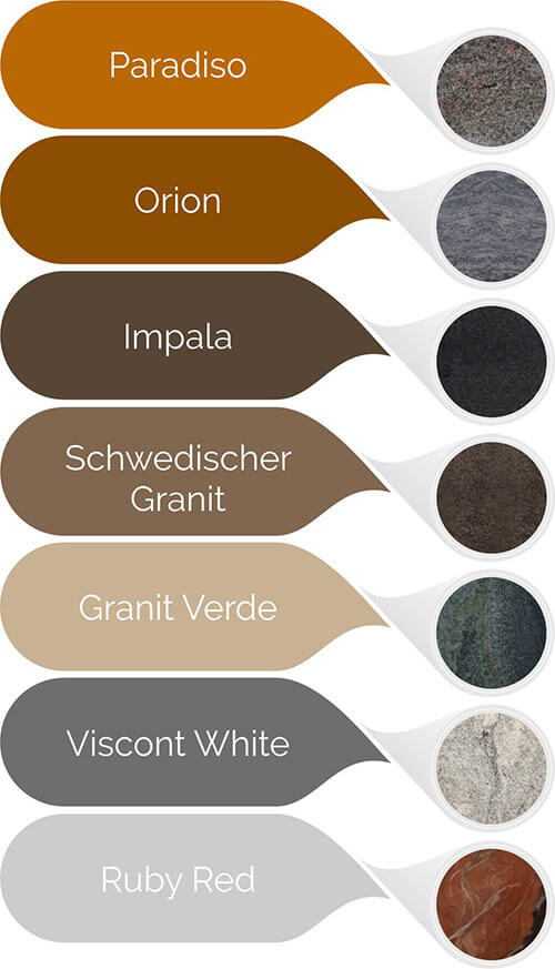 Granit Varianten im Überblick