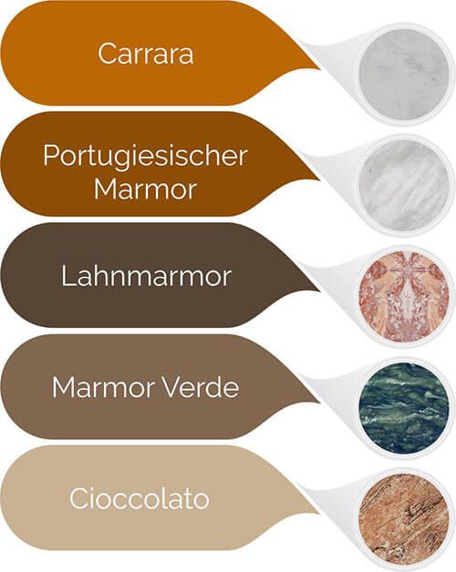 Marmor Arten für Grabsteine