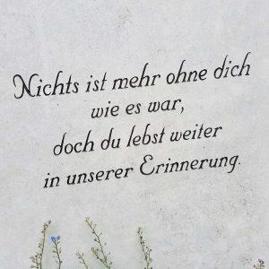 Grabspruch Liebe
