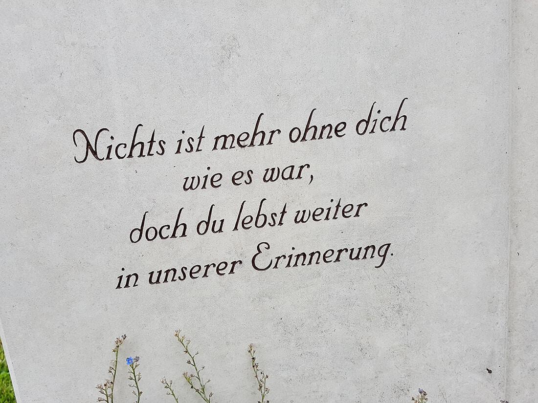 Grabstein Zitat Erinnerung