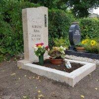 Einzelgrab Naturstein