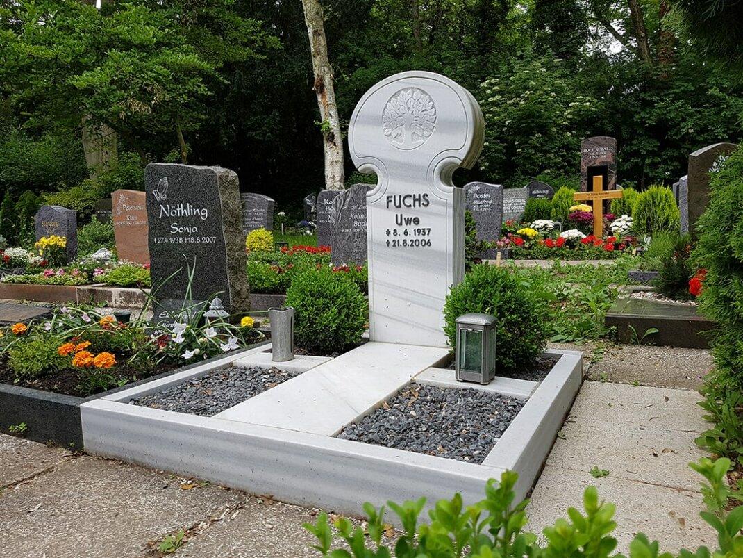 Grabgestaltung pflegeleicht für Einzel  & Doppelgrab   25 Beispiele