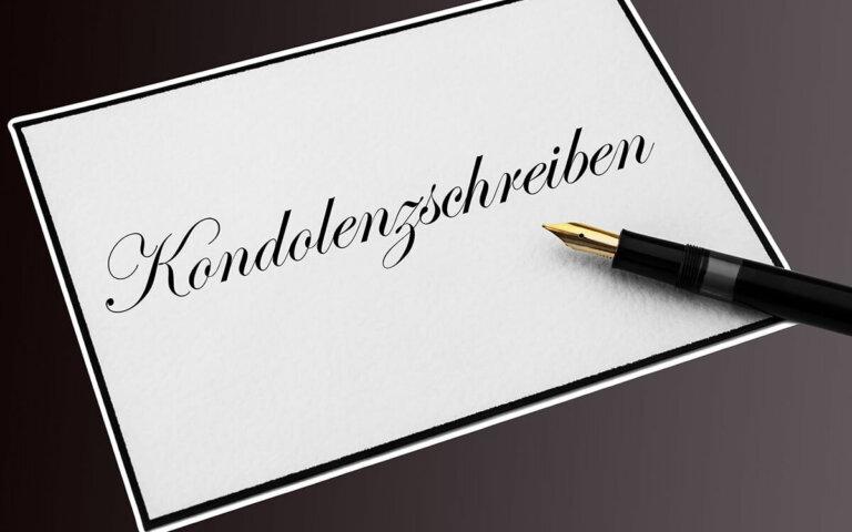 Kondolenzschreiben verfassen & richtig kondolieren